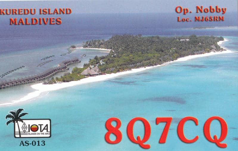 8Q7CQ Maldive Islands