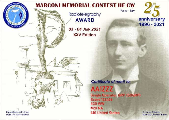 Marconi Memorial HF Contest 2021