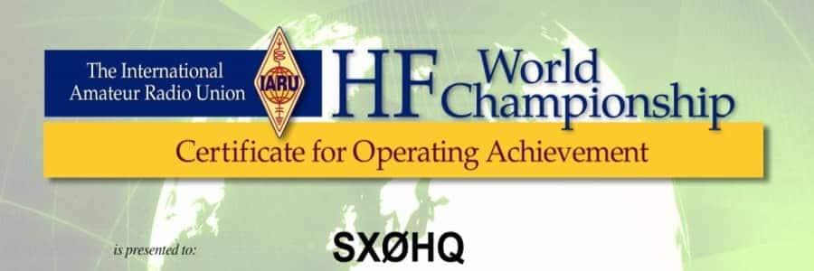 IARU HF World Championship contest 2021