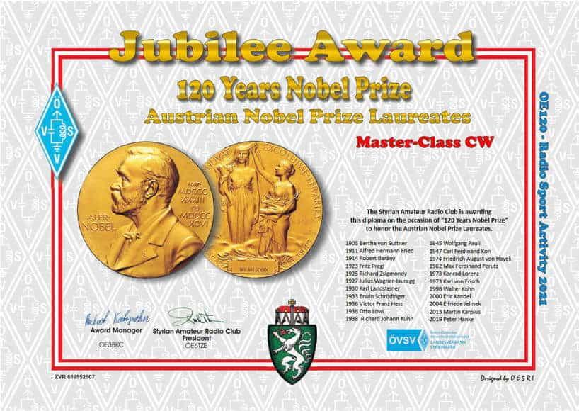 120 Years Nobel Prize - Award